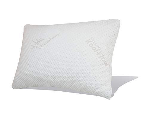 Snuggle-Pedic Original USA Made Ultra-Luxury Bamboo Shredded Memory Foam Pillow...