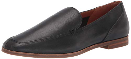 Lucky Brand womens CANYEN Flat Loafer, BLACK LEATHER, 7.5 M US