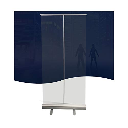 WZNING Transparente bodenstehende Tarp mit Ständer, tragbarer Roll-Up-Fahne, Werbe-Display-Raum-Trennwände, für Cafés, Einzelhandelsgeschäfte, Büro Langlebig und schützend