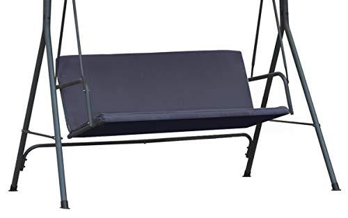 Ferocity Universale Abdeckung für die Sitze der Hollywoodschaukel für Garten-Schaukel Sitzpolsterbezug Sitzbezug Sitzflachenbezug Schaukelauflage Größe 100 x 138 Graphit [101]