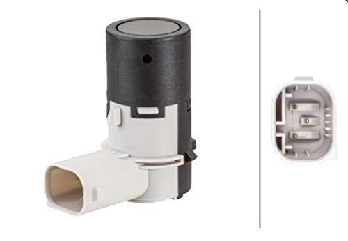 HELLA 6PX 358 141-141 Sensor, Einparkhilfe - gewinkelt - 3-polig - gesteckt - lackierbar