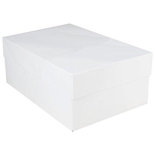 Cajapara tarta de FunCakes, en color blanco, para transporte, 40 x 30 x 15 cm