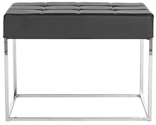 Safavieh EAF2024 Bänke, Metall, Schwarz/Silber, 64 x 45 x 48 cm