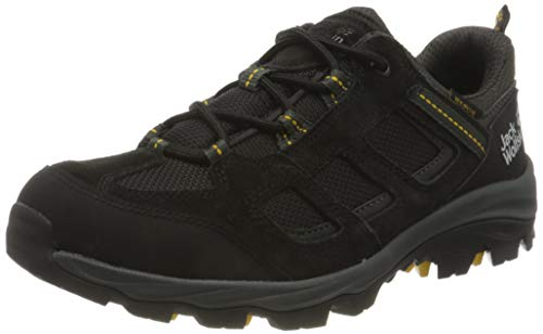 Jack Wolfskin Herren Vojo 3 Texapore Low M Outdoorschuhe, Black/Burly Yellow XT, 41 EU