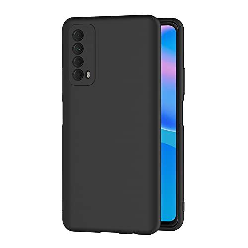 AICEK Cover Compatible Huawei P Smart 2021 Cover P Smart 2021 Nero Silicone Case Molle di TPU Sottile Custodia per Huawei P Smart 2021 (6.67 Pollici)