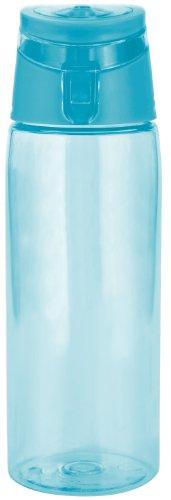 zak! Trinkflasche 750ml in Aqua blau, Kunststoff, 45x20x15 cm