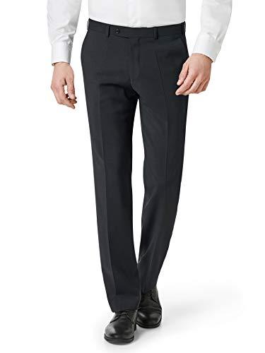 Walbusch Herren Naturstretch Anzug Hose einfarbig Anthrazit 29
