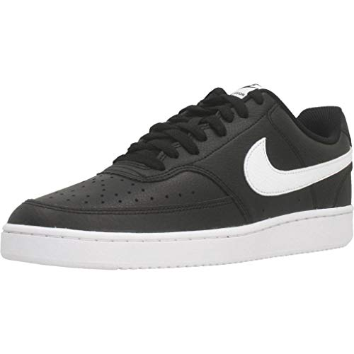 Nike Court Vision LO, Sneaker Hombre, Black/White-Photon Dust, 43 EU