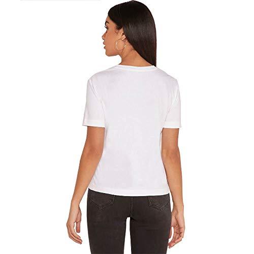 Calvin Klein Jeans - Camiseta con Logotipo de Gargantilla