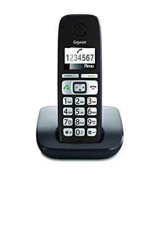 Gigaset E260 Telefono Corldess, Tasti Grandi, Numeri sul Display Grandi, Tastiera Illuminata, Suonerie e Audio Potenziato, Nero [Italia]