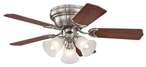 Westinghouse Lighting Contempra Ceiling Fan, Metal, E27, 37 W, Brushed Nickel