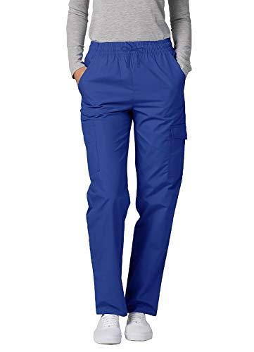 Adar Universal Scrubs for Women - Tapered Cargo Scrub Pants - 506 - Royal Blue - L