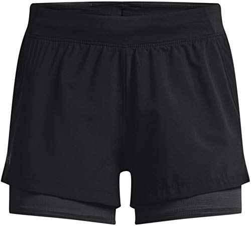 Under Armour Hombre ISO Chill 2in1 Panalones Cortos Correr Negro L
