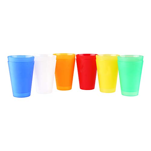 S&S-Shop 30 Plastik Trinkbecher 0,4 l - Mix-Pack Mehrwegtrinkbecher/Partybecher/Becher