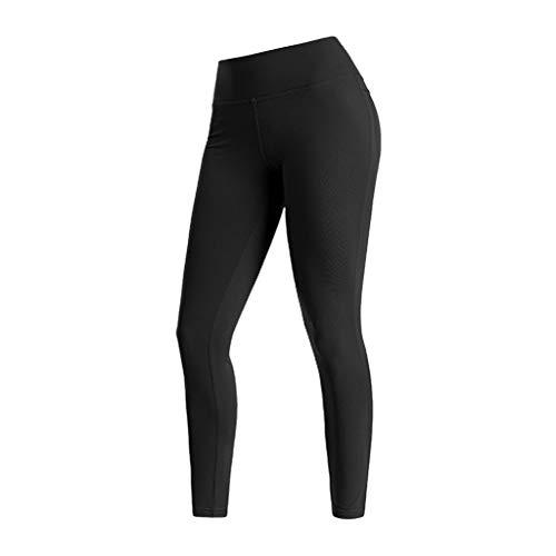 Cinnamou Femme Leggings Pantalon de Sport Strech Élastique Respirant Gym Entraînement Collant Randonnée avec Poche