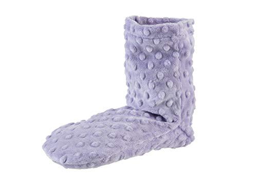 Sonoma Lavender Spa Booties - Lavender Dot