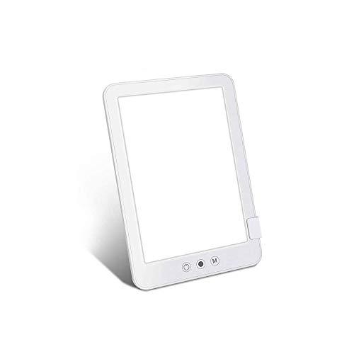 ZOUJIARUI Lámpara de Terapia de luz UV-Free 10000 Lux, lámpara de Sol, con Controles de Brillo Continuo Ajustable y 3 Luces Diferentes Tamaño Compacto para el hogar/Oficina