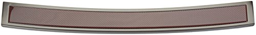 Avisa Protection de seuil arrière inox 'Deluxe' compatible avec Volkswagen Passat 3G Variant 2014- Noir/Carboné noir-rouge