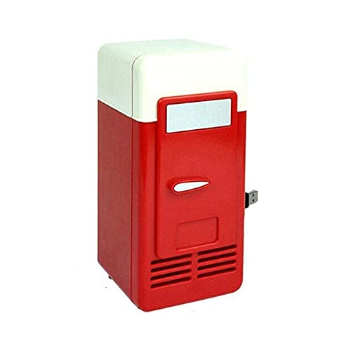 Refrigerator Good USB Mini Refrigerator Cold and Hot Dual-use Refrigeration Heating Small Refrigerator Medicine Cosmetic Refrigerator Refrigerator//40 (Color : Red)