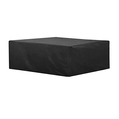 AMDHZ Funda Mesa Jardin Paño Oxford 210D Sofa Exterior Funda para Muebles De Exterior Cubierta De Jardín Impermeable Y A Prueba De Polvo Protector Mesa (Color : Negro, Size : 180X120X74cm)