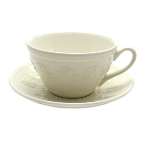 Wedgwood (WEDGWOOD) Festival Activity Ivory tea cup and saucer