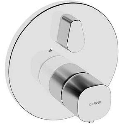 Hansa 81139552 Fertig-Montageset / Brause-Thermostat-Batterie HANSALIVING   Rückflussverhinderer, Schalldämpfer, Temperaturwählgriff mit Sicherheitssperre bei 38 °C, schrom