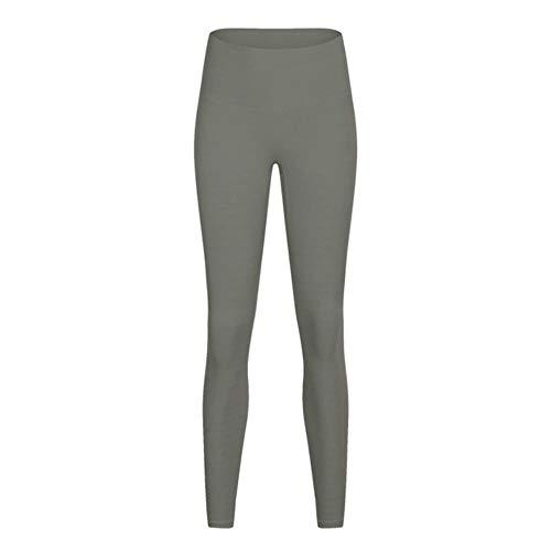 fyb Femmes Haute Qualité Doux Naked-Feel Yoga Pants Tummy Control Hip Up Sport Leggings Gym Tight Seamless Fitness Leggings, Light Green, XL