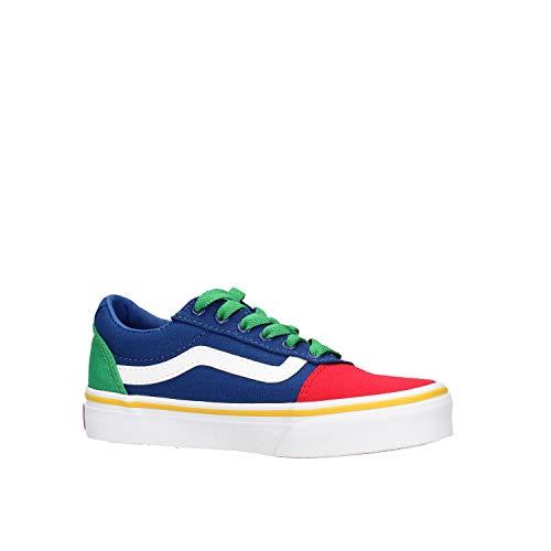 Vans Ward Canvas Sneaker, Bambino, Multicolore ((Color Block) Multi WJ0), 34 EU
