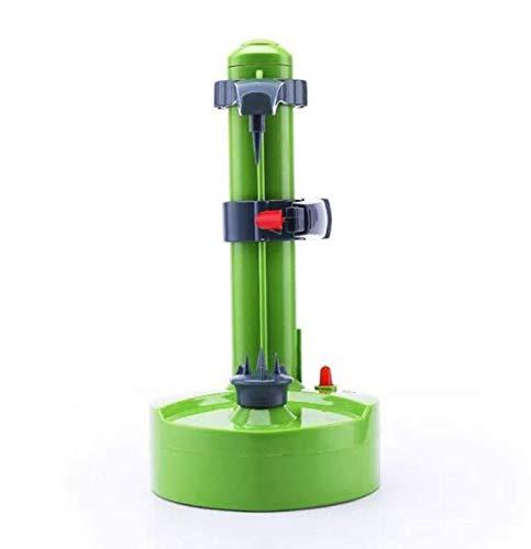 Elektrischer Schäler, automatisch, rotierend, Apfelschäler, Obst, Gemüse, Kartoffeln, Schälen (grün)