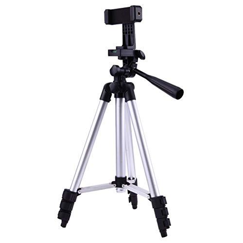 Xusuyunchuang Profesional Plegable del trípode for la cámara Inteligente Titular del teléfono 1/4' Tornillo de 360 Grados Soporte de la Cabeza Titular del teléfono Video de Aluminio con