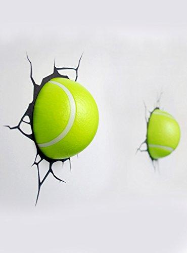 14202 3D Deco Light - Decorative lampada LED design 3D 2 palle da tennis