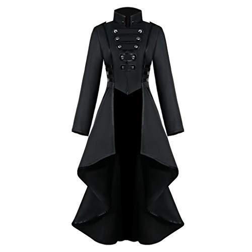 Veste Femmes, Tefamore Gothique Robe Steampunk Tailcoat Bouton Corset Manteau Halloween Costume Médiéval Tuxedo