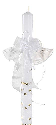 deine-Brautmode Kerzenrock Kerzenschmuck Kerzentuch Tropfschutz für Kerze, Kommunion, Taufe, Hochzeit