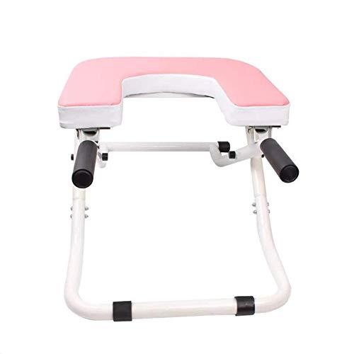 Tabla de Inversión Plegable Cubierta Yoga Fitness Equipment Máquina Pino Inicio Aparatos de inversión (Color : Pink, Size : 36.5x48.5x77.5cm)