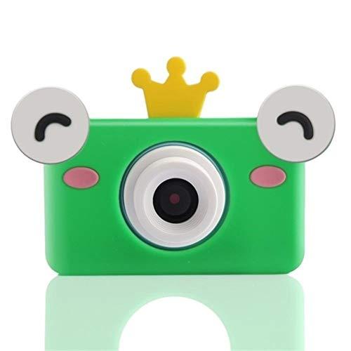 LYQZ Tragbare Kinderdigitalkamera 2,0 Zoll IPS-LCD-Display mit 2400W Pixel, kann angeschlossen Werden, um WiFi Lernspielzeug, Kinder Geschenke (Color : Frog)