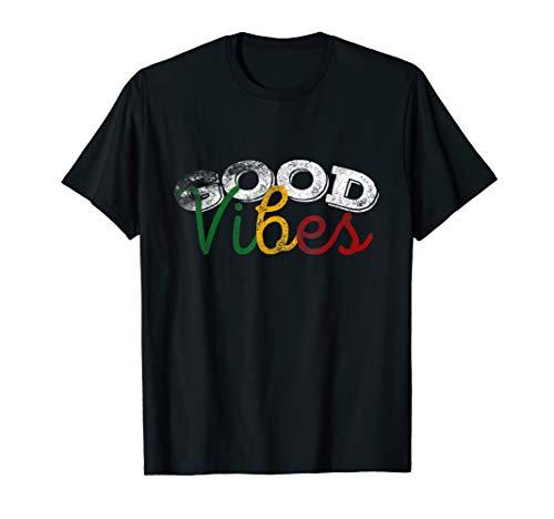 good vibes nur Rasta Reggae T-Shirt Peace One Love Jah