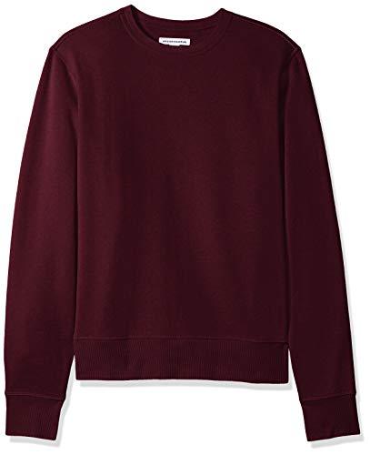 Amazon Essentials Men's Long-Sleeve Crewneck Fleece Sweatshirt, Burgundy, Large