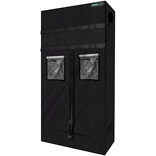"""ULTRA YIELD 24""""x48""""x84"""" + 12"""" Extension Grow Tent - 1680D Mylar Professional Indoor Growing Tents - Use for Hydroponics Growing System - 2x4"""