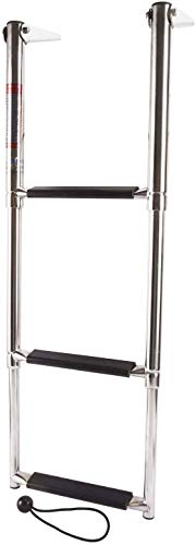 FreeTec Boat Boarding Ladder, 3 Step Stainless Under Mount Telescoping Boat...