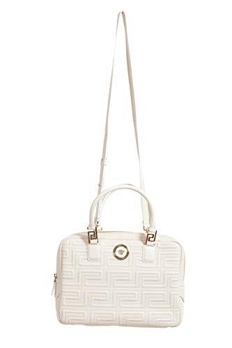Versace 100% Leather White Women's Handbag Shoulder Bag