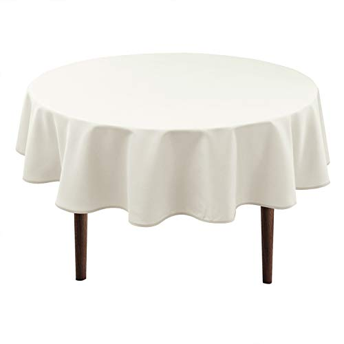 ATUIO Hiasan Round Tablecloth 60 Inch - Waterproof Stain Resistant Spillproof Polyester Fabric Table Cloth for Dining Room Kitch.
