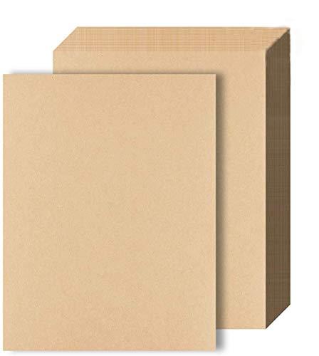 BOSSTER A4 Kraftpapier 100 Blatt DIN A4 Kartonpapier Braunes Papier 100g/m² zum Tintenstrahldrucker Laserdrucker und Kunst