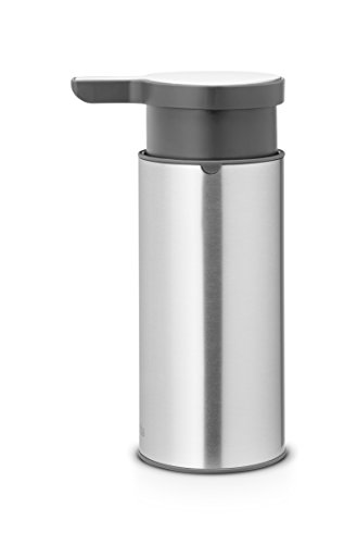 Brabantia Dispensador de jabón, Matt Steel FPP, 0.18 L