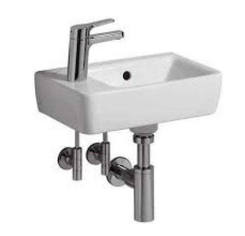 Keramag RENOVA Nr. 1 COMPRIMO Handwaschbecken 400 x 250 mm, mit Hahnloch links weiß
