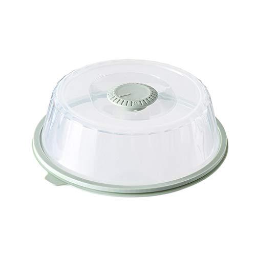 rongweiwang Microonde Alimentari Plastica Forno a microonde Alimentare Riscaldamento Coperchio Maniglia Splatter Cucina Piatto Piatto di Tenuta, Verde Menta