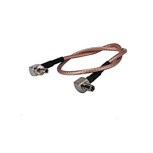 adaptare 61043 15 cm Adapter-Kabel Pigtail TS9- auf CRC9-Stecker gewinkelt für UMTS-/LTE-/3G-/4G-Antenne