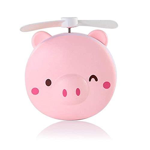 JZUKU Ventilador de Mano USB Carga Pequeño Ventilador Portátil Piggy Student Office Portable Compartida Ventilador