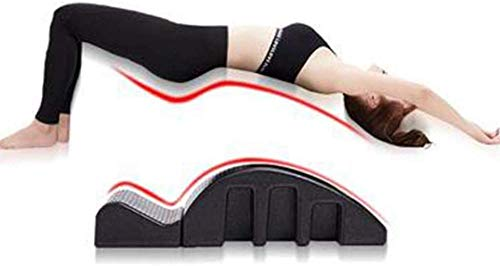 MIEMIE Yoga Columna Vertebral Equipo de Ejercicios Pilates Cama de Masaje Corrector de órtesis Curvado espinal Diseño Desmontable Alivia el estrés