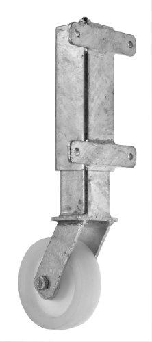 Pfister Torlaufrolle. Gefedert,Radlast bis max. 450 kg. 6cm Federweg für schwere Tore