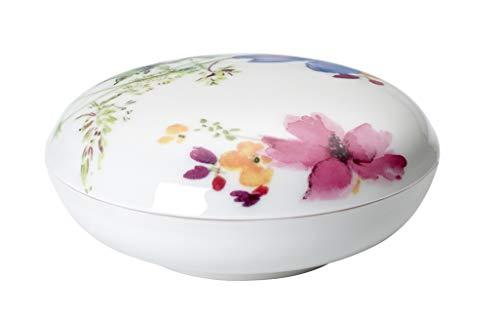 Villeroy & Boch Mariefleur Gifts Schmuckdose, 11 cm, Premium Porzellan, Bunt/Pink/Gelb/Grün